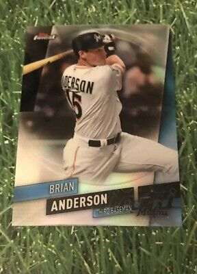 2019 Topps Finest Base Card REFRACTOR #49 Miami Marlins BRIAN ANDERSON