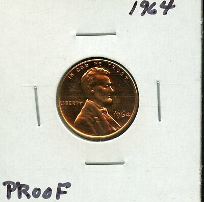 1964 1c Proof United States Lincoln Memorial Cent BH590