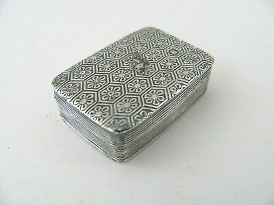 Antique Dutch Silver Vinaigrette Smelling Salts Box