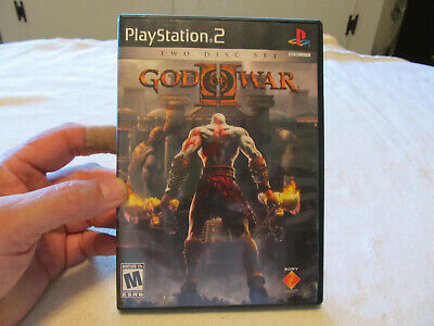 God of War II (Sony PlayStation 2, 2007) PS2 -  Complete 2 Discs Manual Case