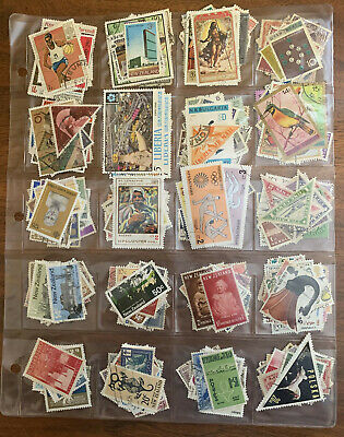 [Lot 504] 500 Different Worldwide Stamp Collection in Vinyl Page