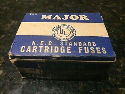 Major Gem Electric Co NYC-NEC Standard Fuses-10 in Box-USA-No 406-NO EJ-1.Rare.