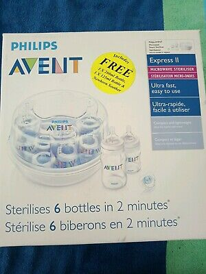 Philips avent Baby Bottle microwave Steriliser Express II BNIB