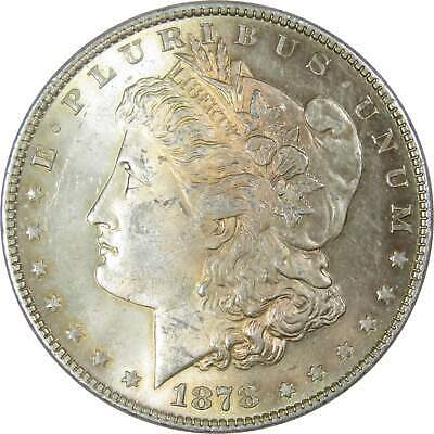 1878 $1 Morgan Silver Dollar 8 Tail Feathers Uncirculated Mint State Toned