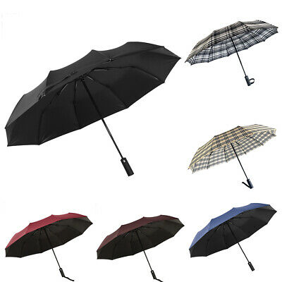 e38138b4b 10 Ribs Strong Frame Umbrella Folding Compact Windproof Travel Work 3  Folding