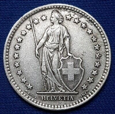 1943 Switzerland Silver 2 Francs. XF. - MI#233