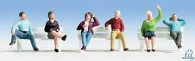 Walthers WAL949-6059 Seated People Pkg (6) Set #3 HO Scale