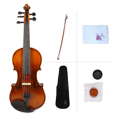 Yinfente 5string Violin electric Acoustic Violin Maple spruce wood  Case bow