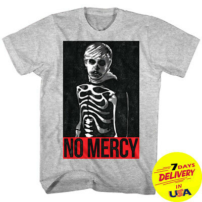 f9a6607d Karate Kid Cobra Kai Johnny Lawrence Skeleton Men's T-shirt No Mercy Zabka  Gray