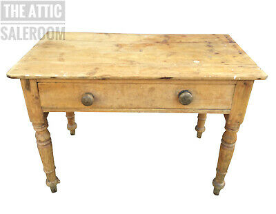 Fantastic Antique Victorian Stripped Pine Farmhouse Table Hall Sideboard Drawer