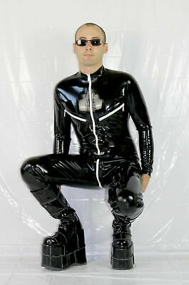 Latex Rubber Gummi Catsuit Unisex Body Sack with Hoods Stockings Customize 0.4mm