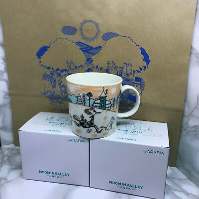 Moomin mug cup Set Arabia Valley Park Limited Japan NEW mugcup 2019 rare family