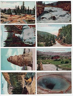 YELLOWSTONE NATIONAL PARK PC Postcard Lot WYOMING NPS Hot Spring CASCADES Cliff