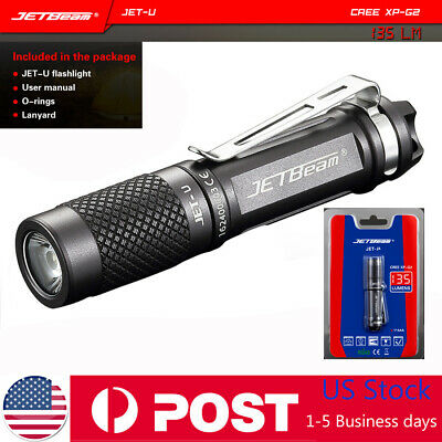 Jetbeam 135LM JET-U Cree XP-G2 Mini LED Flashlight Portable Waterproof Torch