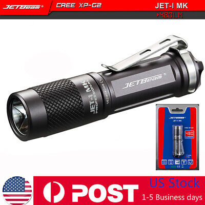 Jetbeam 480 Lumens JET-I MK Cree XP-G2 LED Flashlight Portable Waterproof Torch