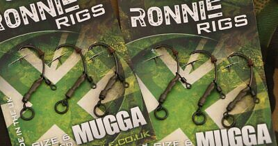 Gardner Tackle Ready Tied Ronnie Rigs - Carp Pop Up Coarse Fishing (3 Per Pack)