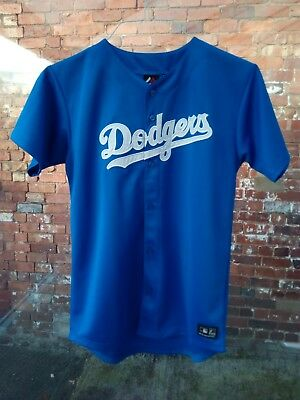 New Without Tags Los Angeles Dodgers Majestic Mlb Blue Baseball Jersey 13-15Y