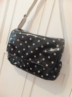Cath Kidston Baby Changing Bag With Mat In Black Polka Dot