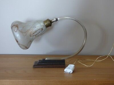 Genuine Art Deco French desk/table lamp with Period Shade&