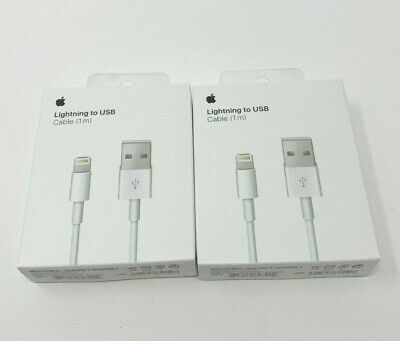 2 x Original Apple Lightning to USB Charger Cable for iPhone 6s/Plus/5/SE/7 MAX