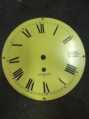 Cream Coloured 8 Inch Fusee Clock Dial Marked With A Broad Arrow 15 Available