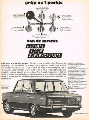 1969 Fiat 125 Special (NL, 1pg.) Advertisement 2116