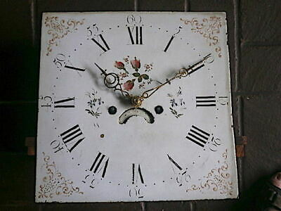 14 inch sq 8 day longcase clock dial and movement c1860