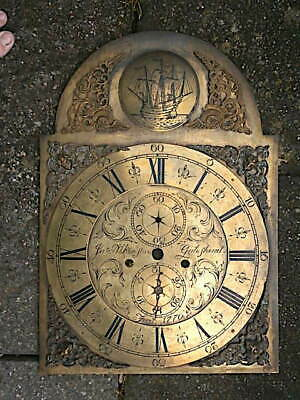 C1770 Longcase Grandfather Clock Dial 14X20 Inch Dial