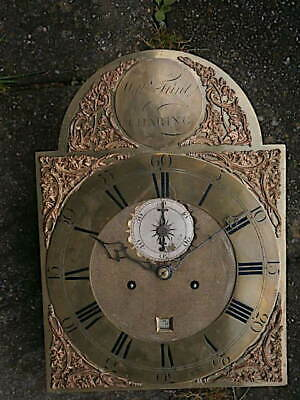 C1750 8 day   LONGCASE GRANDFATHER CLOCK DIAL+movement 12X16+1/2       'FLINT  ,