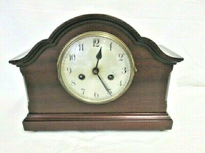 An Edwardian Mahogany Chiming Mantel Clock