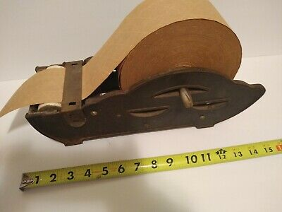 GUMMED PACKING TAPE DISPENSER - CAST IRON - VINTAGE - Very Unique & Rare