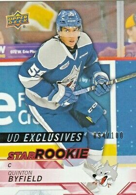 Quinton  Byfield Ssp /100 Rc *Exclusives* Star Rookie 2018-19 Upper Deck Chl Sby