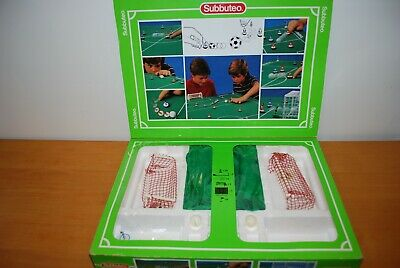 Original Subbuteo box with two goals/balls/players - spares/repairs