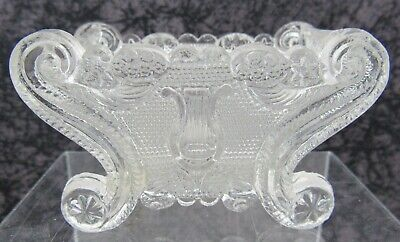 Antique Boston & Sandwich Lacy Pressed Glass Salt Neale LE 1