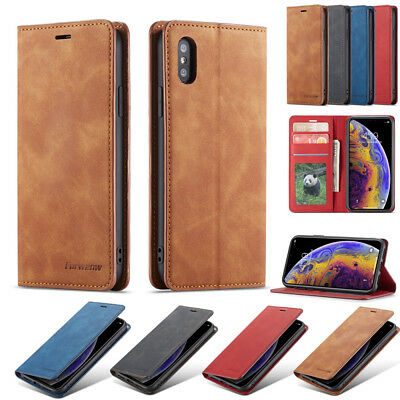 For iPhone XS Max XR 8 7 6s Plus Case Card Slot Wallet Magnet Leather Flip Cover