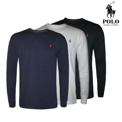 Ralph Lauren Polo Men's Crew Neck Long Sleeve T-Shirt New With Tags