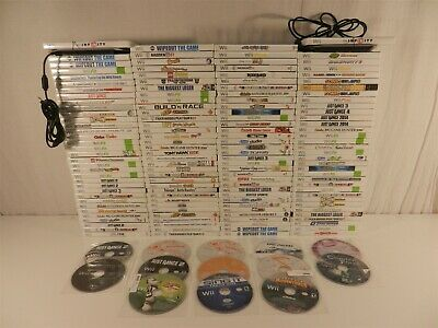 Lot of 149 Nintendo Wii Games - Sonic Colors, Game Party 3, Just Dance 2014
