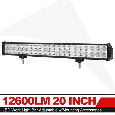 20Inch 2688W Straight Dual Row Led Light Bar Spot Flood Combo Beam Work Light