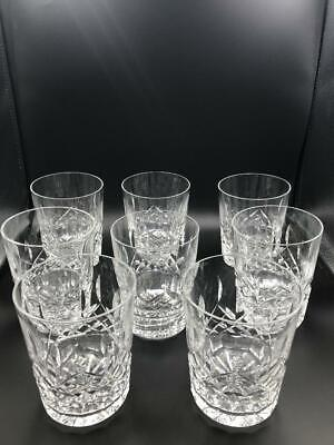 Set of 8 Waterford Crystal Lismore Whiskey / Old Fashioned Glasses Tumblers