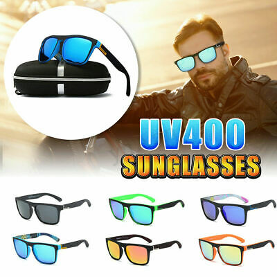 DUBERY Mens Polarized Sunglasses Square Cycling Sport Driving Sun Glasses UV400