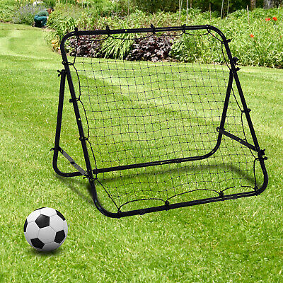 Rebounder Net  Practise Soccer Kickback Target Goal Kids Adults Training Black