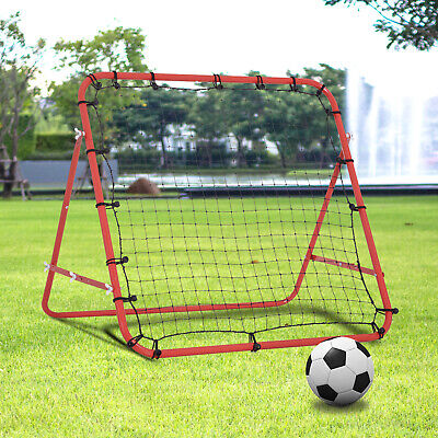 Rebounder Net  Practise Soccer Kickback Target Goal Kids Adults Training Red