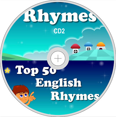 50 KIDS SINGALONG SONGS NURSERY RHYMES CHILDREN'S FAVOURITES AUDIO CD UK Vol 2