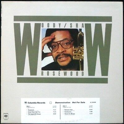 WOODY SHAW 'Rosewood' NM Never played white label Promo 1978 LP