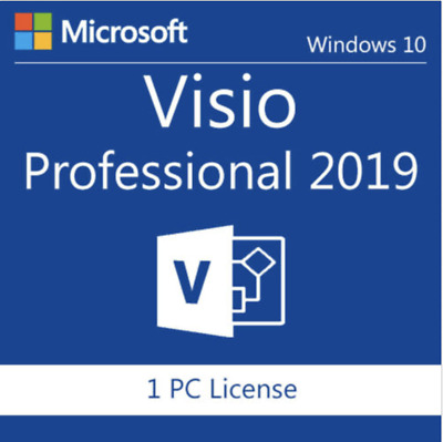 Microsoft Visio Professional 2019 License Key 1 PC With Official Download Link