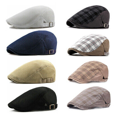 Men Cotton Blend Gatsby Cap Golf Driving Sun Flat Cabbie Beret Newsboy Ivy Hat
