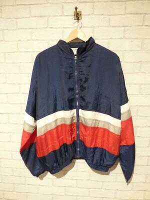 Vintage Shell Suit Jacket Top Festival Tracksuit Windbreaker USA 90s (L) E3493
