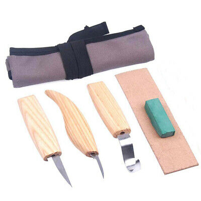 5 Pcs Wood Carving Knife DIY Chisel Woodworking Cutter Chip Hand Tool Kits