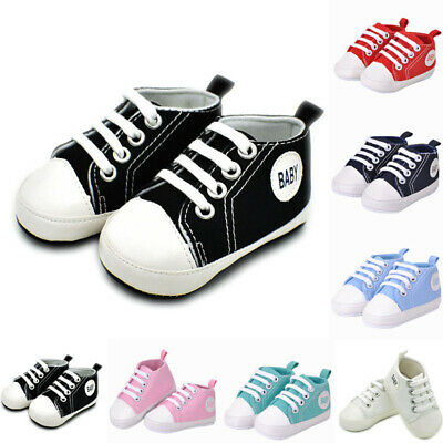 Sneakers Cute Canvas Crib Baby Shoes Boy Soft Sole 2018 Lace Candy Toddler Girl