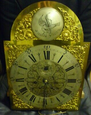 Unusual Antique 8 Day Longcase Clock Movement+Dial 17ins By 12ins Robt Donaldson